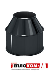 Дымоход Lokki оголовок без зонта 0,5 мм 0,5мм, диаметр 120*200 мм