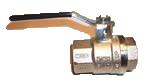 Кран шаровой Bugatti ВР стальная ручка