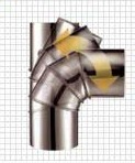 Отвод дымохода с изменяемым углом наклона серия CGI Bofill