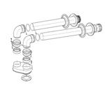 Раздельные трубопроводы для дымоудаления и подачи воздуха 80/125
